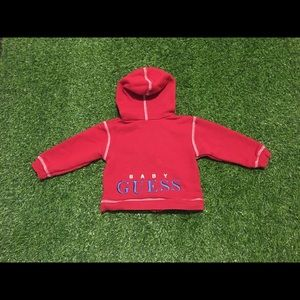 Toddlers Baby Guess Embroidered Red Hoodie 18M